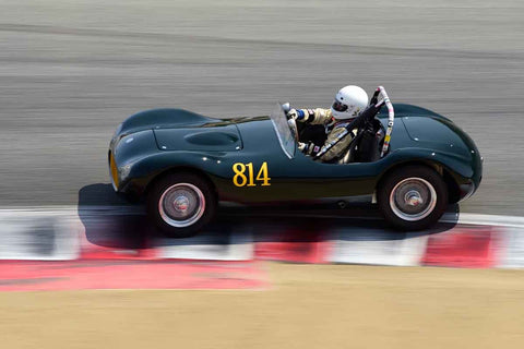 Dennis Adair - 1955 Elva Mk1 in Group 2B - 1955-1961 Sports Racing under 2000cc at the 2018 SCRAMP Rolex Monterey Motorsports Reunion run at WeatherTech Raceway Laguna Seca