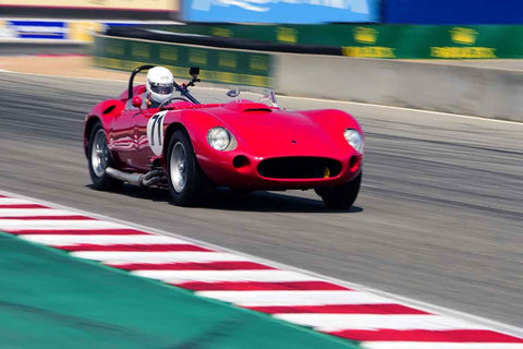 David Swig - 1957 Maserati 450S in Group 3A - 1955-1961 Sports Racing over 2000cc at the 2018 SCRAMP Rolex Monterey Motorsports Reunion run at WeatherTech Raceway Laguna Seca