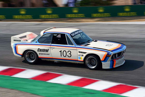 Thor Johnson - 1974 BMW CSL in Group 5A - 1973-1981 FIA, IMSA, GT, GTX, GTU, AAGT at the 2018 SCRAMP Rolex Monterey Motorsports Reunion run at WeatherTech Raceway Laguna Seca