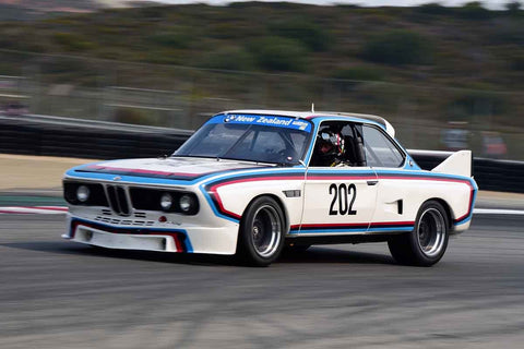 Ch Dehaan - 1975 BMW CSL Turbo in Group 5A - 1973-1981 FIA, IMSA, GT, GTX, GTU, AAGT at the 2018 SCRAMP Rolex Monterey Motorsports Reunion run at WeatherTech Raceway Laguna Seca