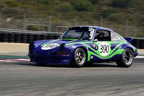 Olga Neulist Reindlova - 1969 Porsche 911 in Group 5A - 1973-1981 FIA, IMSA, GT, GTX, GTU, AAGT at the 2018 SCRAMP Rolex Monterey Motorsports Reunion run at WeatherTech Raceway Laguna Seca