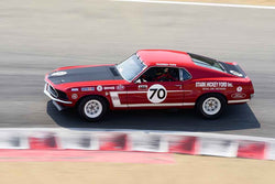 Andrew Alcazar - 1969 Ford Mustang Boss302 in Group 6A - 1966-1972 Trans-Am at the 2018 SCRAMP Rolex Monterey Motorsports Reunion run at WeatherTech Raceway Laguna Seca