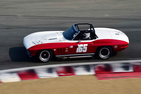 Chris Springer - 1965 Chevrolet Corvette in Group 6B - 1963-1966 GT Cars over 2500cc at the 2018 SCRAMP Rolex Monterey Motorsports Reunion run at WeatherTech Raceway Laguna Seca