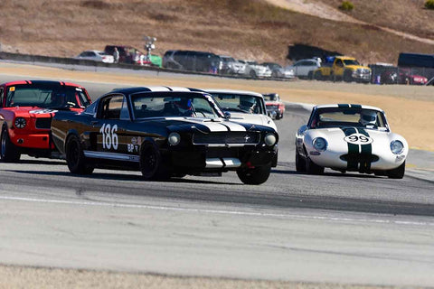 Michael Parsons - 1966 Shelby GT 350 in Group 6B - 1963-1966 GT Cars over 2500cc at the 2018 SCRAMP Rolex Monterey Motorsports Reunion run at WeatherTech Raceway Laguna Seca