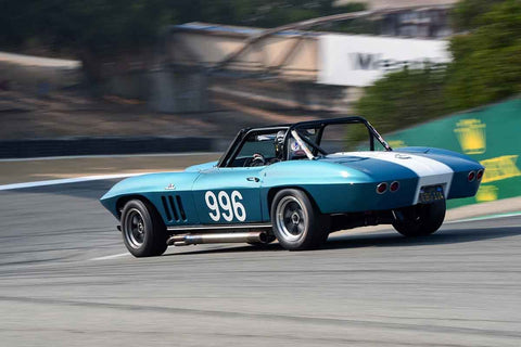 Ed Hugo - 1966 Chevrolet Corvette in Group 6B - 1963-1966 GT Cars over 2500cc at the 2018 SCRAMP Rolex Monterey Motorsports Reunion run at WeatherTech Raceway Laguna Seca