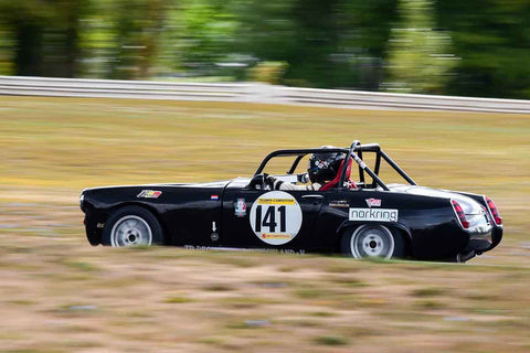 Karlo Flores - 1966 Austin Healey Sprite in Group 2/7a - Mid Bore Production/1973-1985 Production Car at the 2018 SOVREN Columbia River Classic run at Portland International Raceway