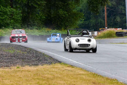 Karlo Flores - 1958 Austin Healey Bugeye Sprite in Group 1 - Vintage/Historic Smallest Bore/Formula V at the 2018 SOVREN Pacific Northwest Historics run at Pacific Raceways