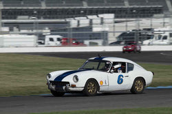Burt Stein - 1967 Triumph GT6 in Group 1/3/4 at the 2018 SVRA Brickyard Vintage Racing Invitational run at Indianapolis Motor Speedway