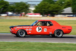 Michael Evans - 1968 Ford Mustang in Group 6 - Big Bore Production Sports Crs and Sedans Through 1972 at the 2018 SVRA Brickyard Vintage Racing Invitational run at Indianapolis Motor Speedway