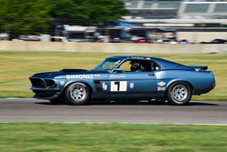 Scott Rodgers - 1969 Ford Mustang Boss in Group 6 - Big Bore Production Sports Crs and Sedans Through 1972 at the 2018 SVRA Brickyard Vintage Racing Invitational run at Indianapolis Motor Speedway