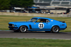 John Cloud - 1970 Ford Boss 302 in Group 6 - Big Bore Production Sports Crs and Sedans Through 1972 at the 2018 SVRA Brickyard Vintage Racing Invitational run at Indianapolis Motor Speedway