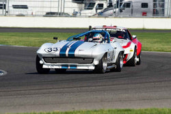 Michael Donohue - 1963 Chevrolet Corvette in Group 6 - Big Bore Production Sports Crs and Sedans Through 1972 at the 2018 SVRA Brickyard Vintage Racing Invitational run at Indianapolis Motor Speedway