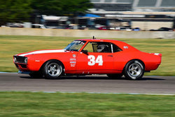 Bill Feaster - 1967 Chevrolet Camaro in Group 6 - Big Bore Production Sports Crs and Sedans Through 1972 at the 2018 SVRA Brickyard Vintage Racing Invitational run at Indianapolis Motor Speedway