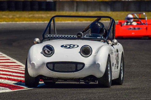 Karlo Flores - 1958 Austin Healey Bugeye Sprite - Group 1, 3, 4, 5B at the 2018 SVRA Portland Vintage Racing Festival  run at Portland International Raceway