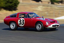 Andrew Cannon - 1964 Alfa Romeo TZ1 in Group 3 - 1955-65 Production & GT Cars at the 2018 SVRA Sonoma Historic Motorsports Festival run at Sonoma Raceway
