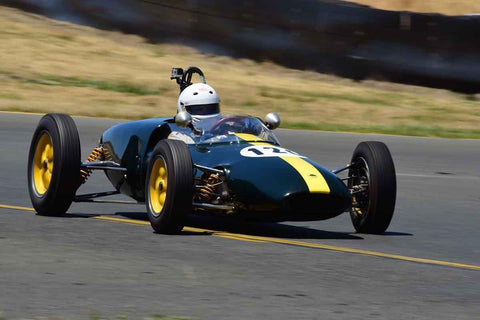 David Brown - 1961 Lotus 20 in Group 4 - Open Wheel Cars – 1600cc Twin Cam or less at the 2018 SVRA Sonoma Historic Motorsports Festival run at Sonoma Raceway