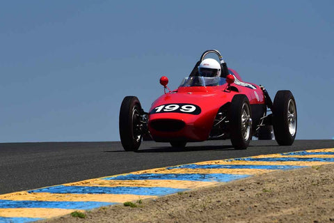 Simon Favre - 1958 Bourgeault FJ in Group 4 - Open Wheel Cars – 1600cc Twin Cam or less at the 2018 SVRA Sonoma Historic Motorsports Festival run at Sonoma Raceway
