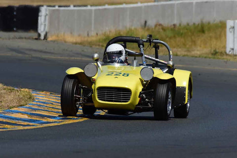 John Mahall - 1962 Lotus Seven in Group 9 - 1956-72 Production & GT Cars under 2000cc at the 2018 SVRA Sonoma Historic Motorsports Festival run at Sonoma Raceway