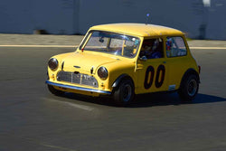 John Burmann - 1967 Austin mini-cooper in Group 2 Small Displacement Production Sports Cars through 1972 at the 2019 CSRG Charity Challenge run at Sears Point Raceway