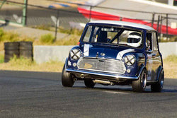 Mark Emmert - 1967 Austin Mini Cooper S in Group 2 Small Displacement Production Sports Cars through 1972 at the 2019 CSRG Charity Challenge run at Sears Point Raceway
