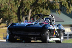 Jeffrey Abramson - 1964 Chevrolet Corvette in Group 3 Large Displacement Production Sports Cars through 1972 at the 2019 CSRG Charity Challenge run at Sears Point Raceway