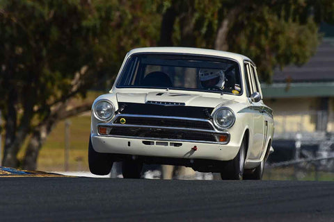 James Longstaffe - 1965 Lotus Cortina in Group 3 Large Displacement Production Sports Cars through 1972 at the 2019 CSRG Charity Challenge run at Sears Point Raceway
