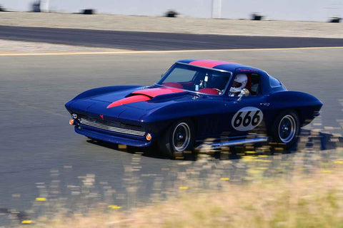 Damian Friary - 1966 Chevrolet Corvette in Group 3 Large Displacement Production Sports Cars through 1972 at the 2019 CSRG Charity Challenge run at Sears Point Raceway