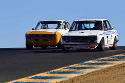 Rob Fuller - 1970 Datsun 510 in Group 9 SCCA Trans-Am, A-Sedans, ISA GTU& GTO cars at the 2019 CSRG Charity Challenge run at Sears Point Raceway