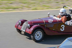 Tom Morgan - 1956 Morgan 4/4 in Group 2Small Displacement Production Sports Cars through 1972 at the 2019 CSRG David Love MemoriaL run at Sonoma Raceway/Sears Point