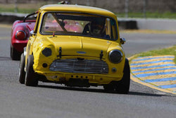 John Burmann - 1965 Austin Mini-Cooper in Group 2Small Displacement Production Sports Cars through 1972 at the 2019 CSRG David Love MemoriaL run at Sonoma Raceway/Sears Point