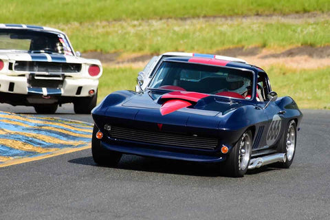 Damian Friary - 1966 Chevrolet Corvette in Group 3 Large Displacement Production Sports Cars through 1972 at the 2019 CSRG David Love MemoriaL run at Sonoma Raceway/Sears Point