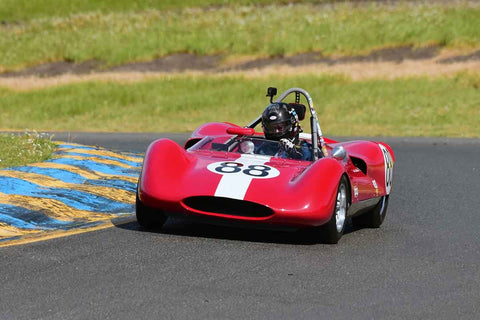 David Martin - 1961 Genie Mk IV in Group 4 Small Displacement Sports Racing Cars through 1967 & USRRC Racing Cars at the 2019 CSRG David Love MemoriaL run at Sonoma Raceway/Sears Point
