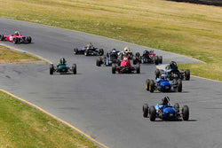 Group 5 Formula Ford & Formula Junior open wheel cars at the 2019 CSRG David Love MemoriaL run at Sonoma Raceway/Sears Point