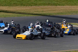 Group 6 Formula Ford open wheel cars at the 2019 CSRG David Love MemoriaL run at Sonoma Raceway/Sears Point