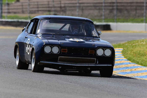 John Yandell - 1973 Ford Capri in Group 8 SCCA Trans-Am, A, B & C Sedans & IMSA GTU & GTO cars & John Morton Cup racing cars at the 2019 CSRG David Love MemoriaL run at Sonoma Raceway/Sears Point