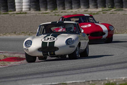 Michael Doyle - 1961 Jaguar XKE in Group 5 at the 2019 HMSA Spring Club Event run at WeatherTech Raceway Laguna Seca