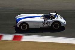 Steve Schuler in Group 1B 1947‐1955 Sports Racing and GT Cars at the 2019 Rolex Monterey Motorsport Reunion run at WeatherTech Raceway Laguna Seca