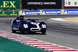 Frank Arciero Jr. in Group 2A 1955‐1961 Sport Racing Under/Over 2000cc at the 2019 Rolex Monterey Motorsport Reunion run at WeatherTech Raceway Laguna Seca
