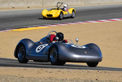 Ned Spieker in Group 2A 1955‐1961 Sport Racing Under/Over 2000cc at the 2019 Rolex Monterey Motorsport Reunion run at WeatherTech Raceway Laguna Seca