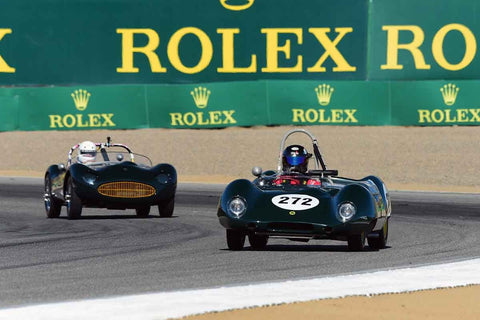 Nick Grewal in Group 2A 1955‐1961 Sport Racing Under/Over 2000cc at the 2019 Rolex Monterey Motorsport Reunion run at WeatherTech Raceway Laguna Seca