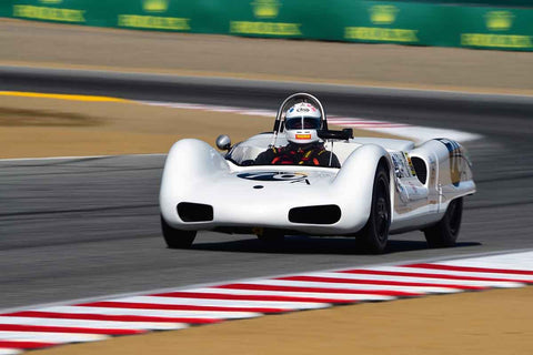 Joey Bojalad in Group 2A 1955‐1961 Sport Racing Under/Over 2000cc at the 2019 Rolex Monterey Motorsport Reunion run at WeatherTech Raceway Laguna Seca