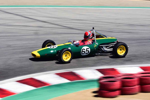 Geir Ramleth in Group 3B 1967 - 1981 Formula Ford at the 2019 Rolex Monterey Motorsport Reunion run at WeatherTech Raceway Laguna Seca