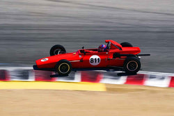 Michael McDermott in Group 3B 1967 - 1981 Formula Ford at the 2019 Rolex Monterey Motorsport Reunion run at WeatherTech Raceway Laguna Seca