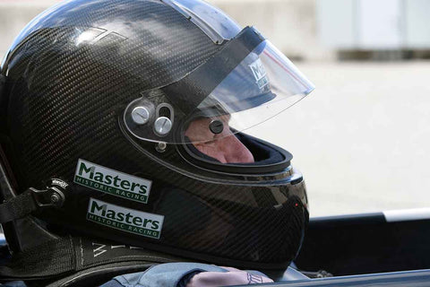 Ron Maydon in Group 4A 1966 - 1985 Masters Historic Formula One at the 2019 Rolex Monterey Motorsport Reunion run at WeatherTech Raceway Laguna Seca