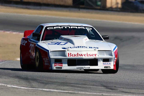 Cary Eisenlohr in Group 6B 1981-1991 IMSA GTO/GTU at the 2019 Rolex Monterey Motorsport Reunion run at WeatherTech Raceway Laguna Seca
