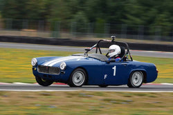 Stephen Newby - 1965 MG Midget in Group 1 Vintage and Small Bore 1972 and Earlier and Formula Vee at the 2019 SOVREN Columbia River Classic run at Portland International Raceway