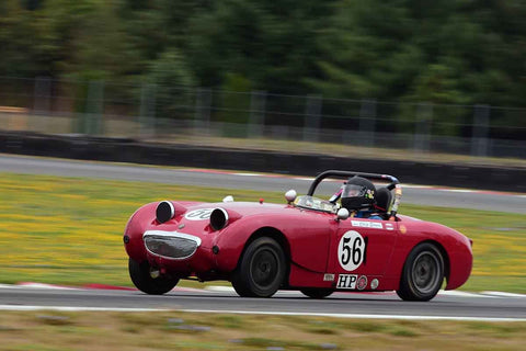 Chip Starr - 1960 Austin Healey Bugeye Sprite in Group 1 Vintage and Small Bore 1972 and Earlier and Formula Vee at the 2019 SOVREN Columbia River Classic run at Portland International Raceway