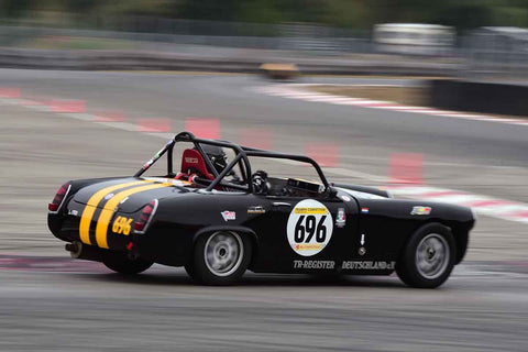 Karlo Flores - 1966 Austin Healey Sprite in Group 1 Vintage and Small Bore 1972 and Earlier and Formula Vee at the 2019 SOVREN Columbia River Classic run at Portland International Raceway