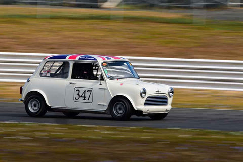 John Breslow - 1966 Austin Cooper S in Group 8 60th Anniversary of the Mini at the 2019 SOVREN Columbia River Classic run at Portland International Raceway