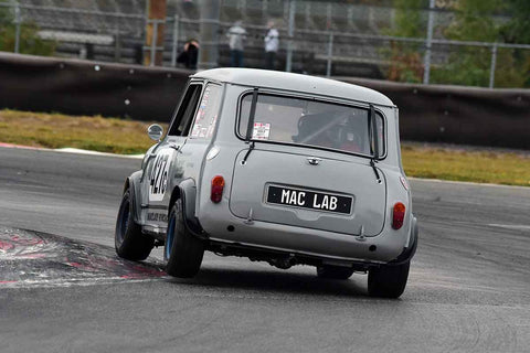 Bruce Houlden - 1966 Austin Mini in Group 8 60th Anniversary of the Mini at the 2019 SOVREN Columbia River Classic run at Portland International Raceway
